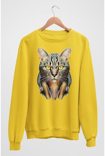 Angemiel Wear Kulaklıklı Kedi Erkek Sweatshirt