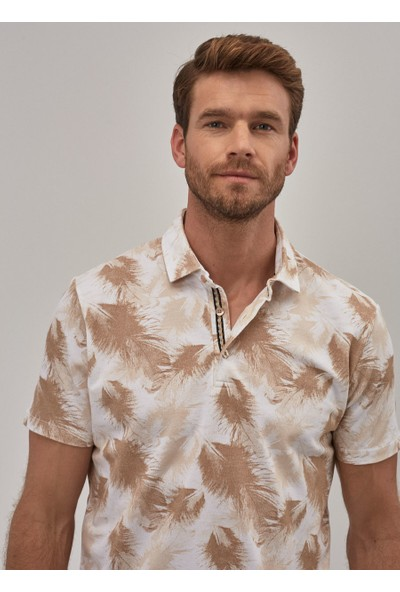 Altınyıldız Classics Slim Fit Polo Yaka Baskılı Tişört