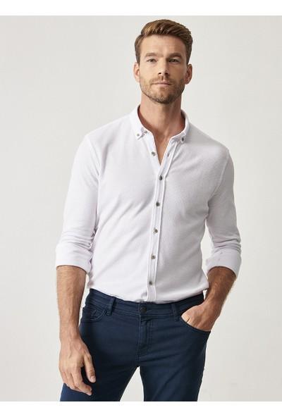 Altınyıldız Classics Erkek Tailored Slim Fit 360 Derece Gömlek