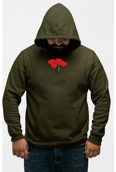 Angemiel Wear Taçlı Kalp Love Erkek Kapüşonlu Sweatshirt