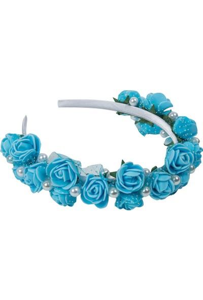 BBA Mavi Çiçekli Saç Aksesuarı