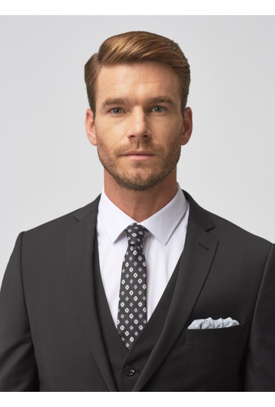 Altınyıldız Classics Erkek Slim Fit Yelekli Nano Takım Elbise