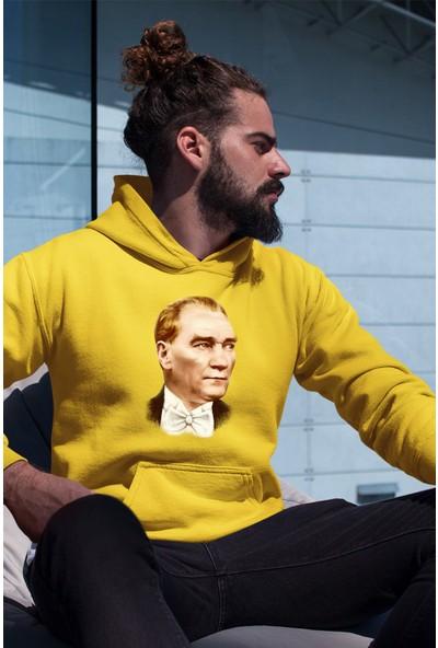 Angemiel Wear Atatürk Erkek Kapüşonlu Sweatshirt