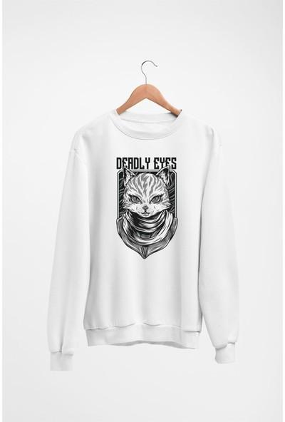 Angemiel Wear Deadly Eyes Kadın Sweatshirt