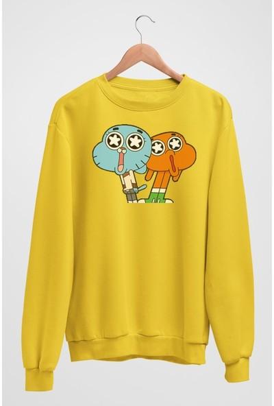 Angemiel Wear Gumball Ve Darwin Kadın Sweatshirt