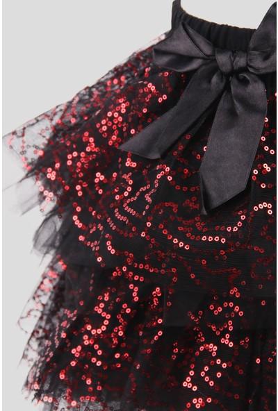 Breeze Kız Çocuk Pullu Tütü Etek Siyah (8-12 Yaş)