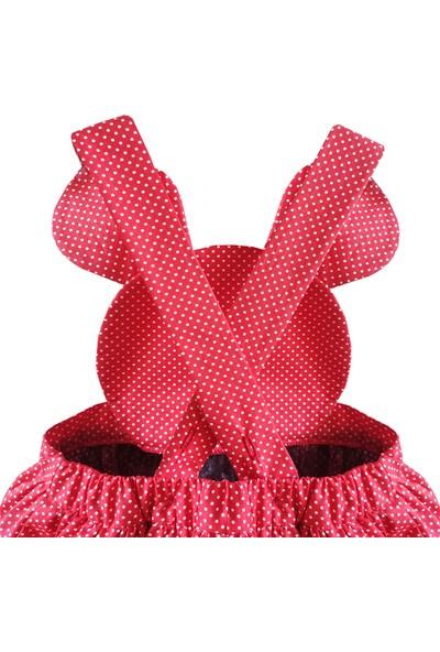 Shecco Babba Kız Çocuk Tütü Elbise Kırmızı Puantiyeli 1-4 Yaş