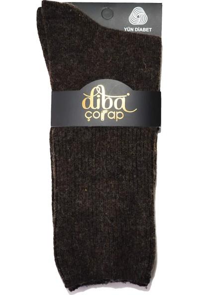 Diba 4 Adet Lambswool Yün Kışlık Şeker Diabet Erkek Çorap