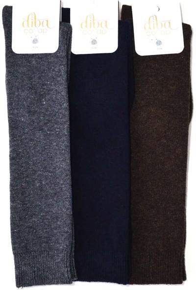 Diba 4 Adet Yün Diz Altı Kışlık Kadın Çorap