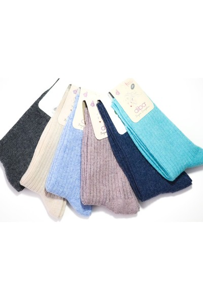 Diba 6 Adet Doğal Lambswool Yün Kadın Kışlık Çorap