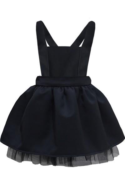 Shecco Babba Kız Çocuk Tütü Elbise Siyah 5-8 Yaş