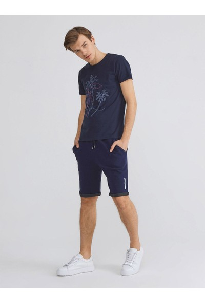 Xint Pamuk Slim Fit Nakış Detaylı T-Shirt
