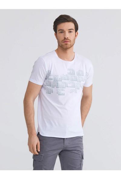 Xint Pamuk Slim Fit Baskılı T-Shirt
