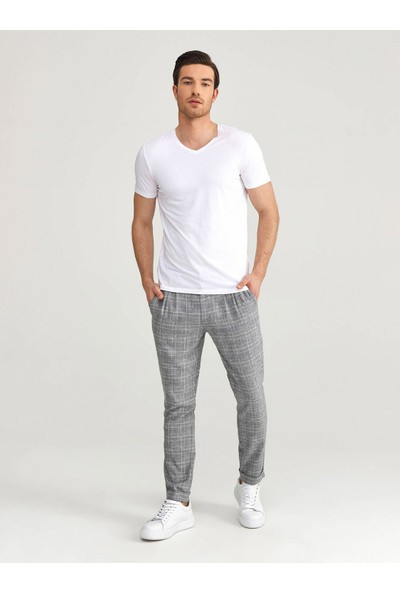 Xint V Yaka Modal Slim Fit Basic T-Shirt