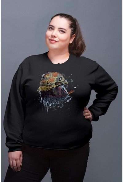Angemiel Wear Barış Savaşçısı Maymun Kadın Sweatshirt