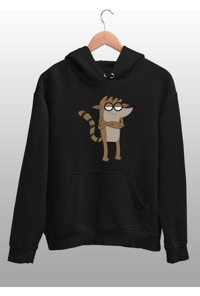 Angemiel Wear Sinsice Gülen Rigby Erkek Kapüşonlu Sweatshirt