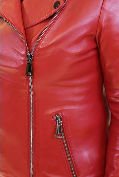 Bilgin's Coste Kırmızı Deri Ceket
