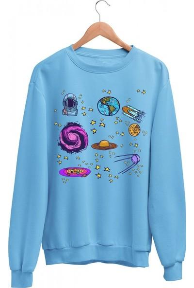 Angemiel Wear Uzay veBaskılar Kadın Sweatshirt