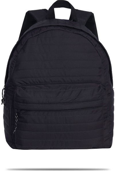 Gnc Design Siyah Paraşüt Kumaş Sırt Çantası