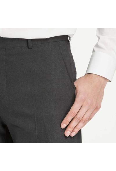 Hateko Klasik Kesim Antrasit Mat Yün Kumaş Pantolon