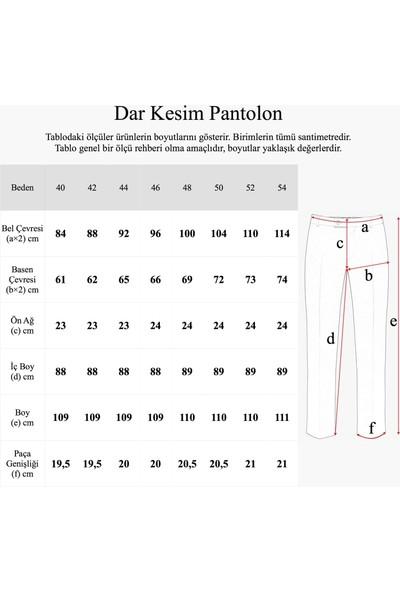 Hateko Dar Kesim Siyah Yün Kumaş Pantolon