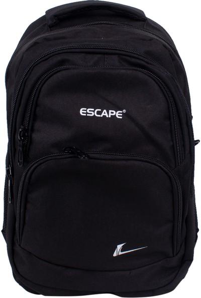 Escape 333 Laptop Bölmeli Okul Sırt Çantası Siyah