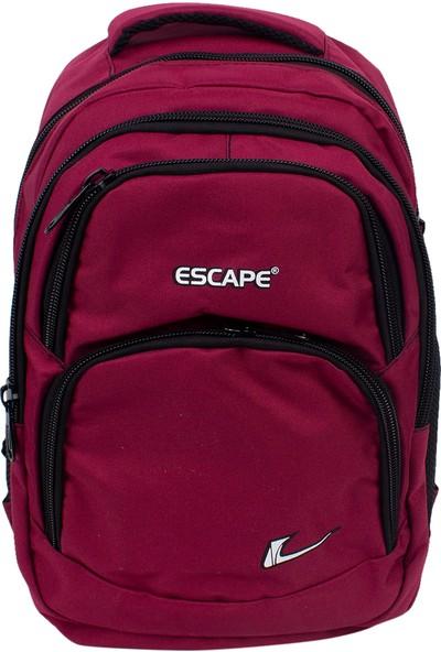 Escape 333 Laptop Bölmeli Okul Sırt Çantası Bordo
