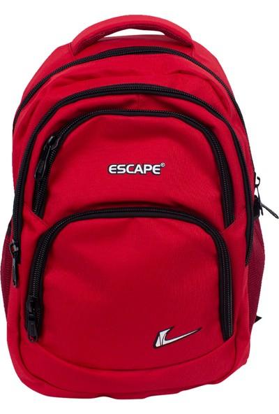 Escape 333 Laptop Bölmeli Okul Sırt Çantası Kırmızı