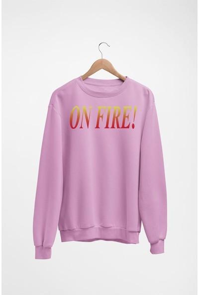Angemiel Wear On Fire Kadın Sweatshirt