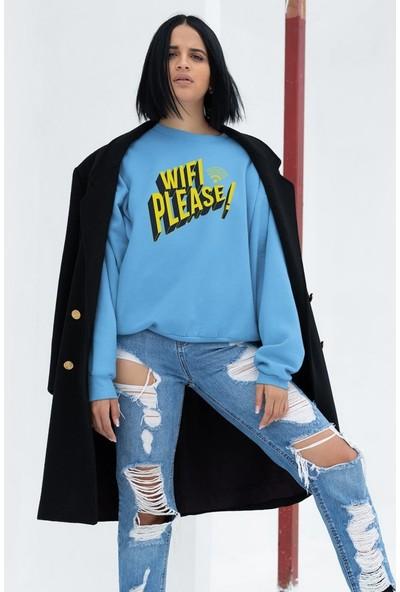 Angemiel Wear WIFI Please Kadın Sweatshirt