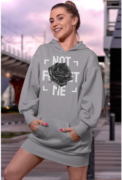 Angemiel Wear Not Forget Me Gri Elbise Sweatshirt Tunik