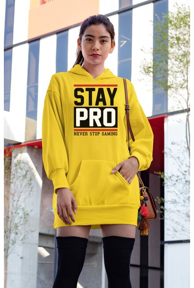 Angemiel Wear Stay Pro Beyaz Elbise Sweatshirt Tunik