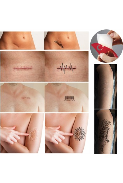 One Spray Tattoo One Spray Tattoo Yara İzi Kapatma Dövme Seti Tattoo Geçici Sprey Dövme Dark Blue