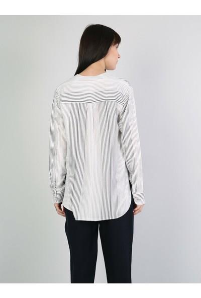 Colin's Beyaz Uzun Kollu Gömlek