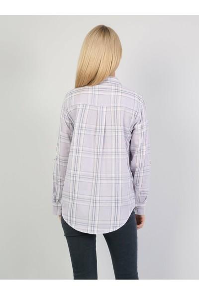 Colin's Mor Uzun Kollu Gömlek