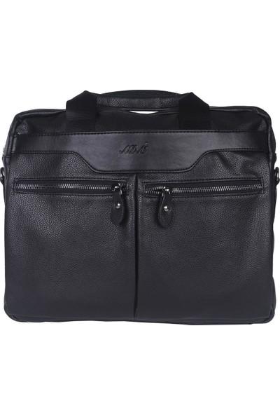 A.d.m. Erkek Evrak Çanta Laptop Bölmeli Siyah TR451