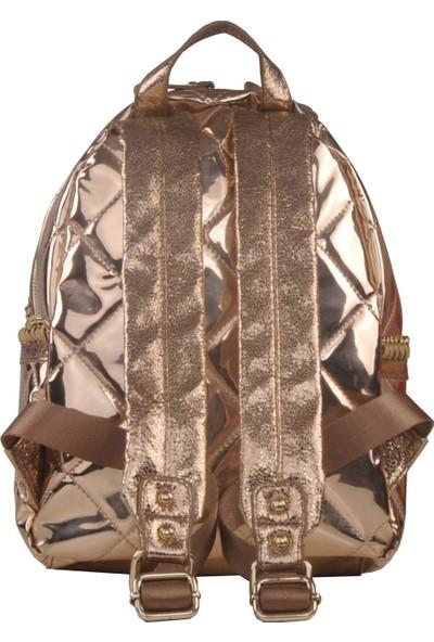 Ççs Kadın Sırt Çantası Gold 15575
