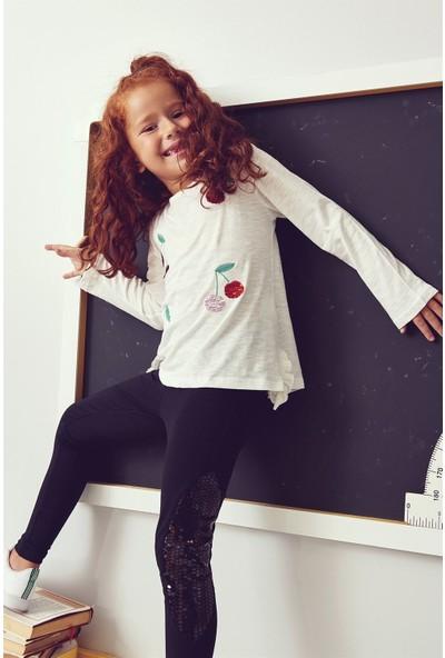 Cigit Kız Çocuk Cherry Uzun Kollu T-Shirt