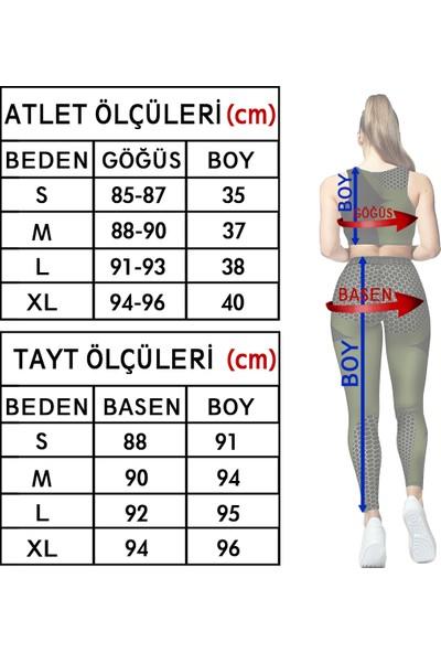 Clove Kadın Tayt Atlet Takım Siyah S