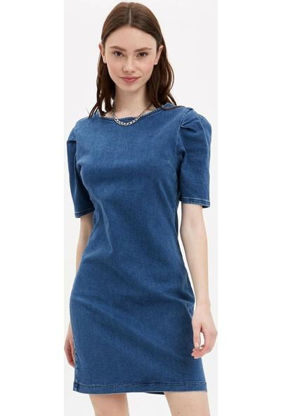 DeFacto Kadın Fermuarlı Jean Elbise