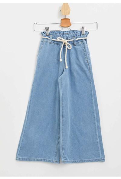 DeFacto Kız Çocuk Wide Leg Jean Pantolon