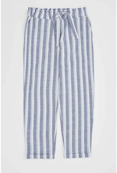 DeFacto Kız Çocuk Çizgili Beli Bağcıklı Havuç Pantolon
