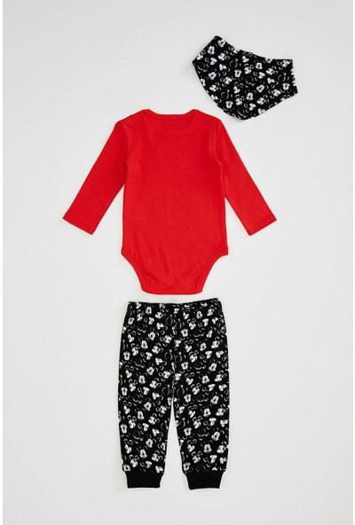 DeFacto Erkek Bebek Mickey Mouse Lisanslı 3'lü Takım N8209A220SP