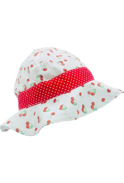 Capps Kız Bebek Güneş Şapkası Meyve Desenli