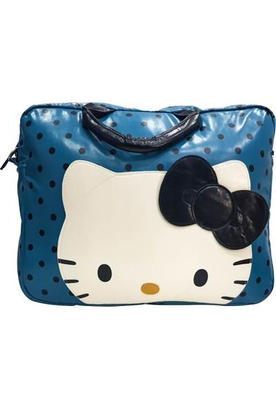 Hello Kitty Evrak Çantası Mavi 35223