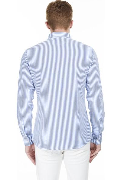 Buratti Çizgili Düğmeli Yaka Erkek Gömlek Cf20S112237