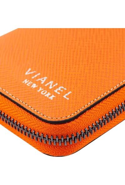 Vianel New York Miracle Saffiano Deri Kadın Cüzdanı Turuncu