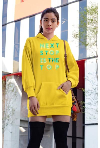 Angemiel Wear Next Stop İs The Top Sarı Elbise Sweatshirt Tunik