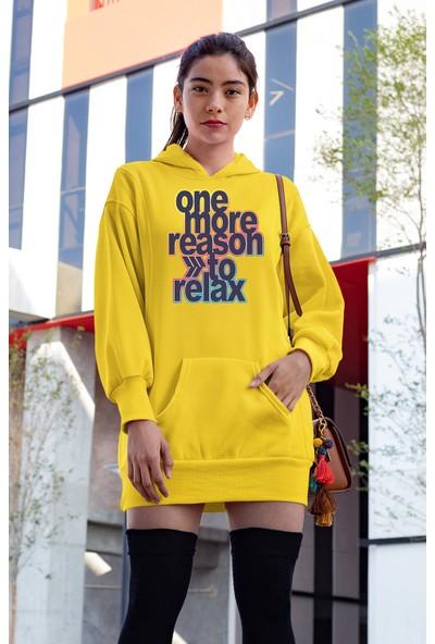 Angemiel Wear One More Reason To Relax Sarı Elbise Sweatshirt Tunik