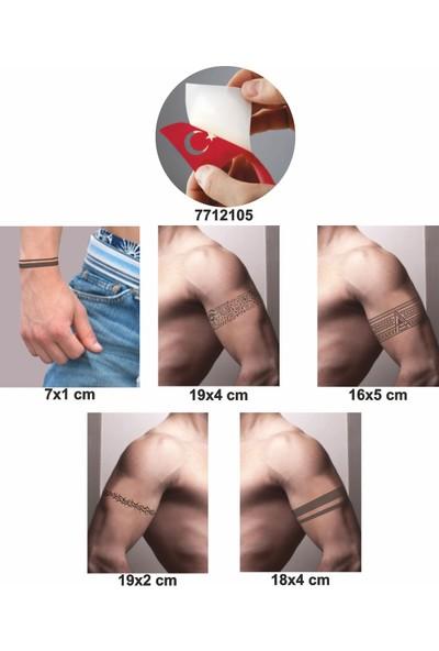 One Spray Tattoo Kol Şerit 5 Adet Geçici Dövme ve Kına Deseni Spreysiz